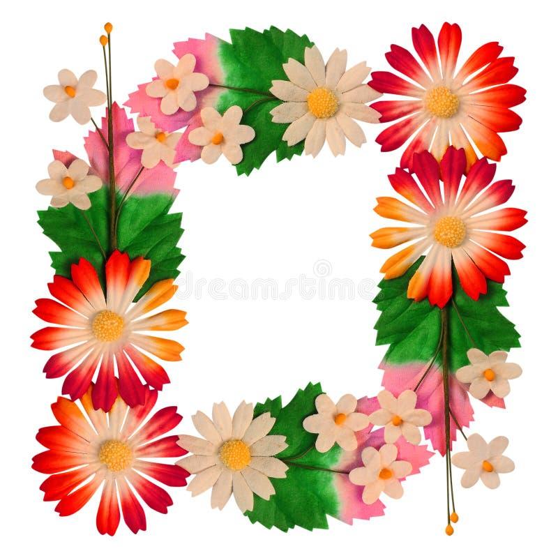 Fleurs faites de papier coloré photos libres de droits
