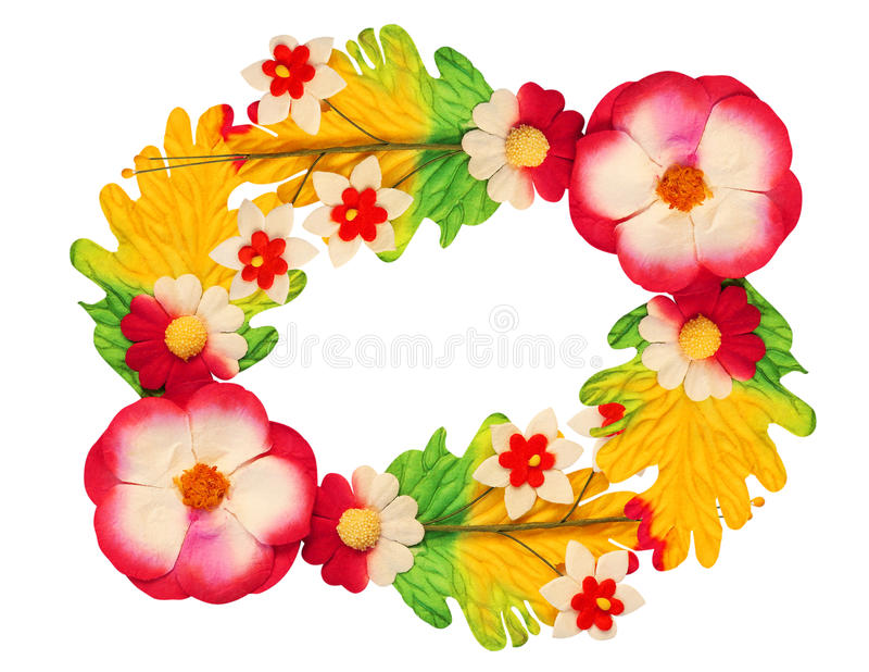 Fleurs faites de papier coloré image stock