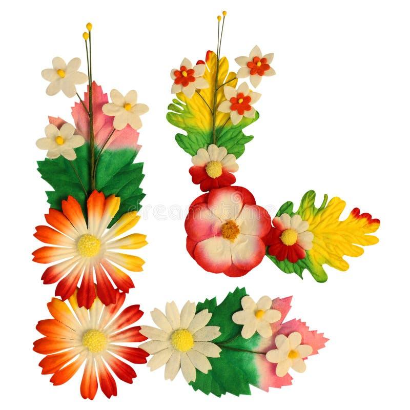 Fleurs faites de papier coloré images libres de droits