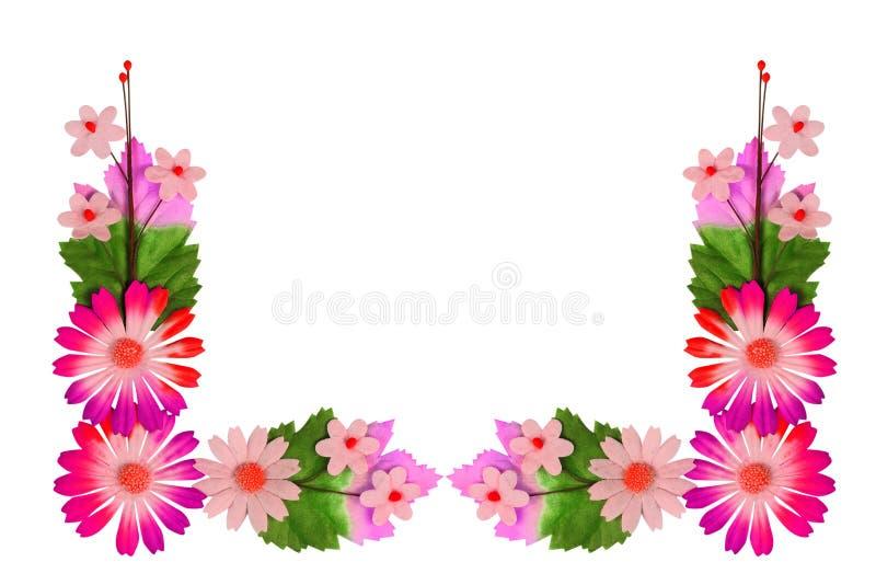 Fleurs faites de papier coloré photographie stock libre de droits