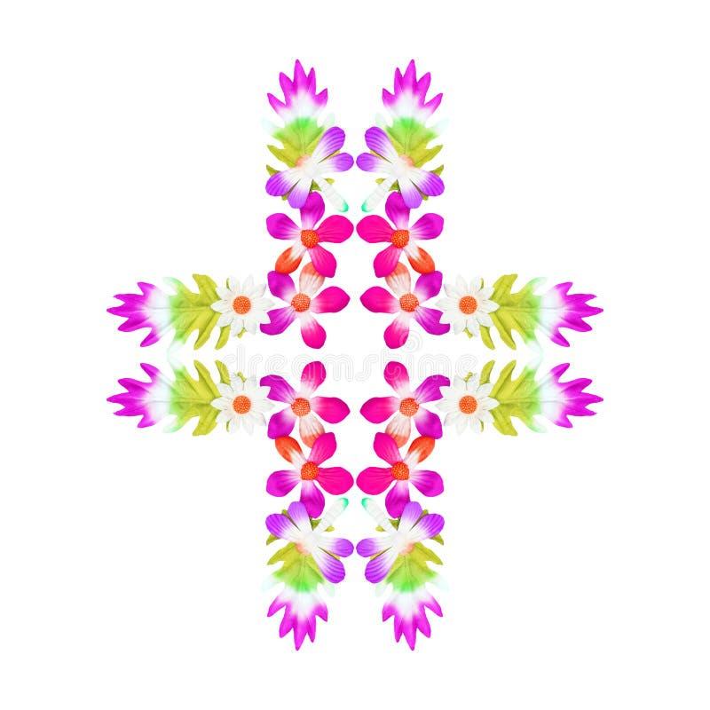 Fleurs faites de papier coloré utilisé pour la décoration image stock