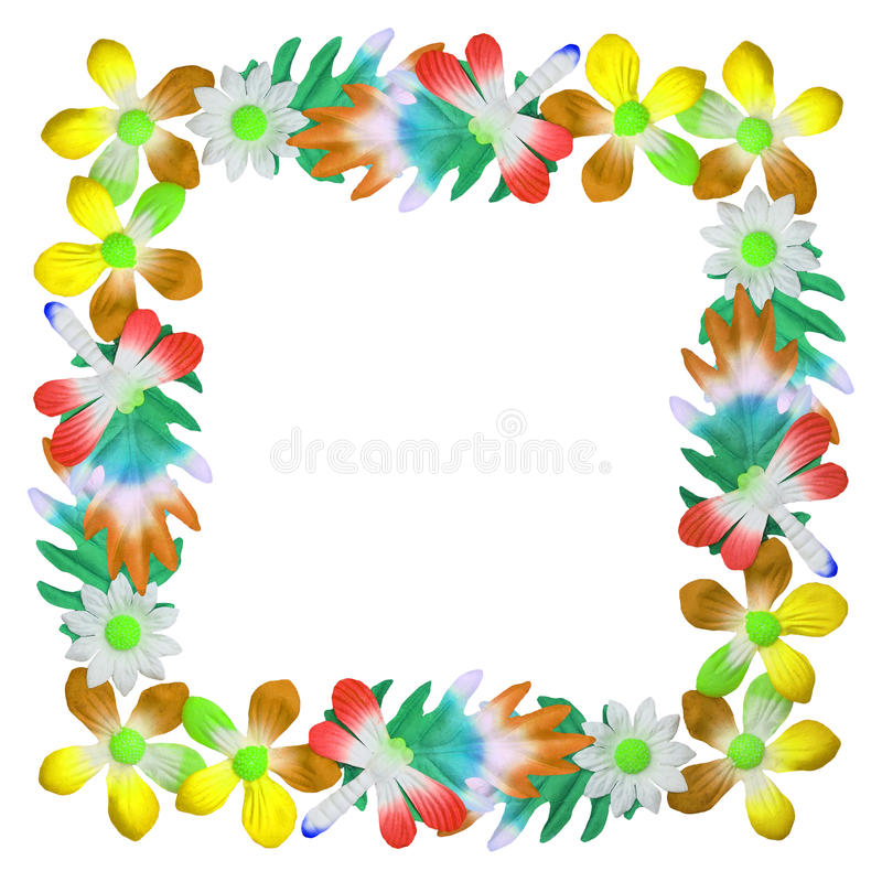 Fleurs faites de papier coloré utilisé pour la décoration illustration libre de droits