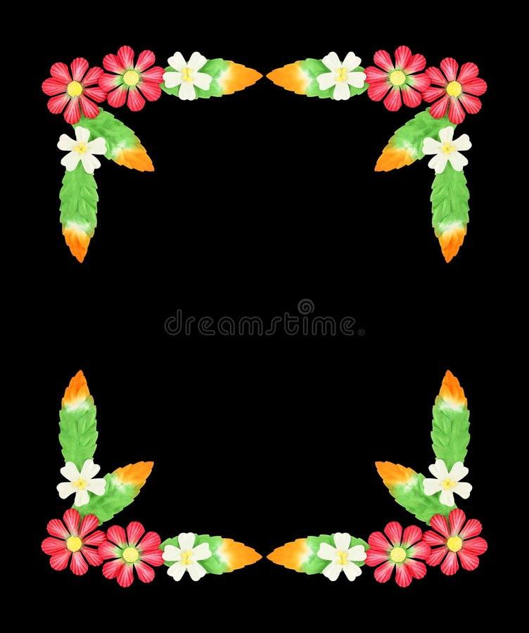 Fleurs faites de papier coloré utilisé pour la décoration d'isolement sur W photos libres de droits
