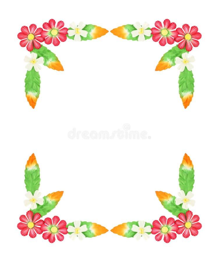 Fleurs faites de papier coloré utilisé pour la décoration d'isolement sur W image libre de droits