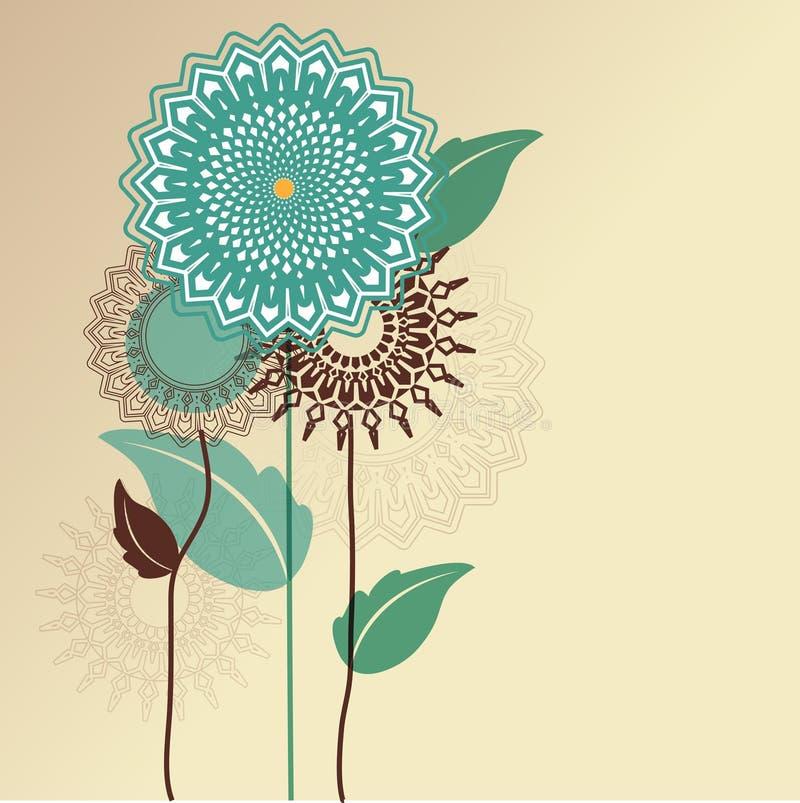 Fleurs graphiques illustration de vecteur