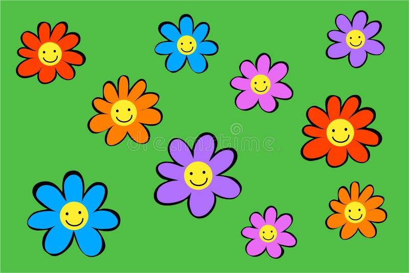Fleurs heureuses illustration libre de droits