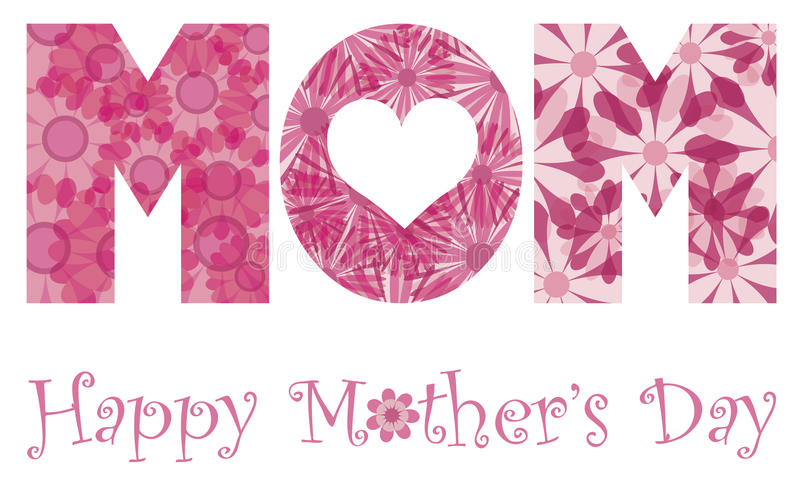 Fleurs heureuses d'alphabet de maman de jour de mères