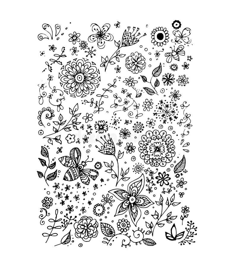Fleurs, illustration de vecteur photo stock