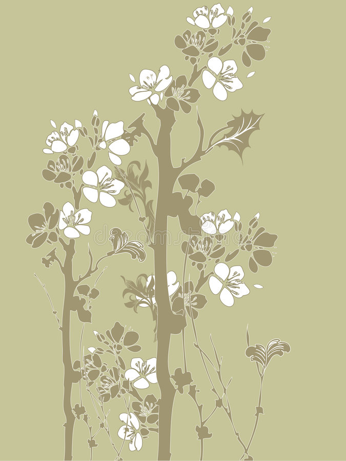 Fleurs japonaises illustration stock