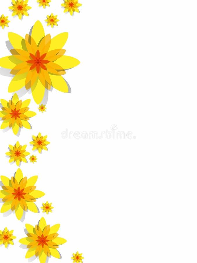 Fleurs jaunes de ressort illustration stock