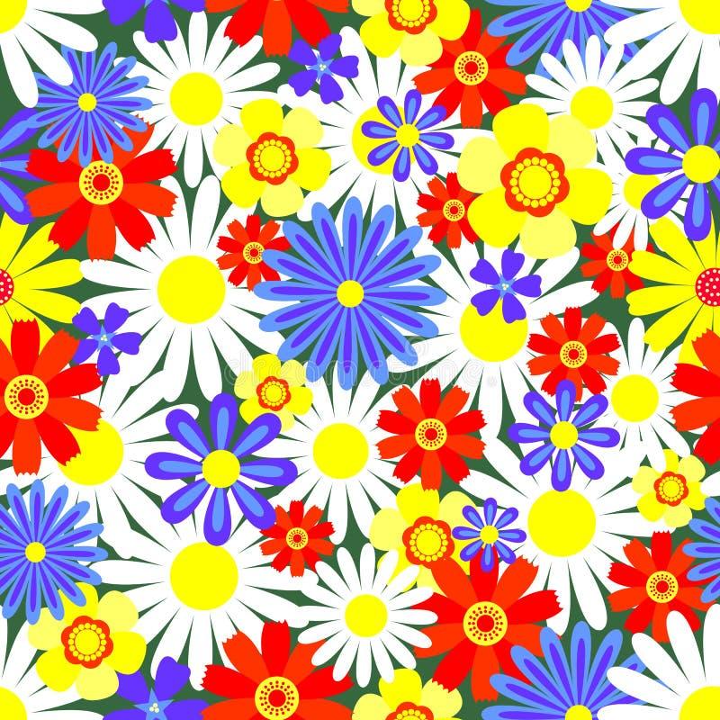Fleurs lumineuses de configuration sans joint. illustration stock
