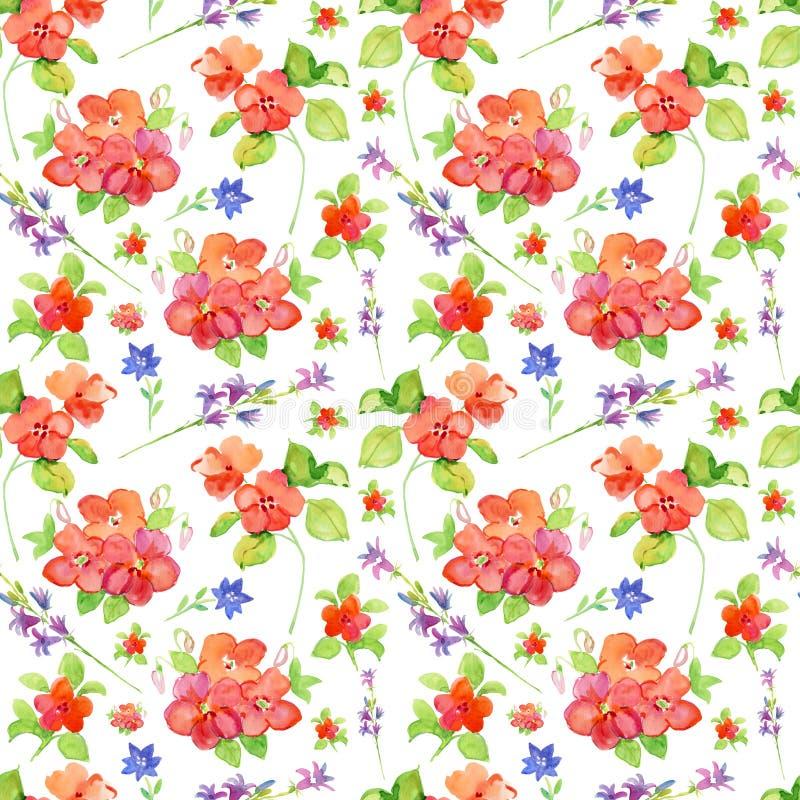 Fleurs Papier peint floral carrelé sans couture illustration de vecteur