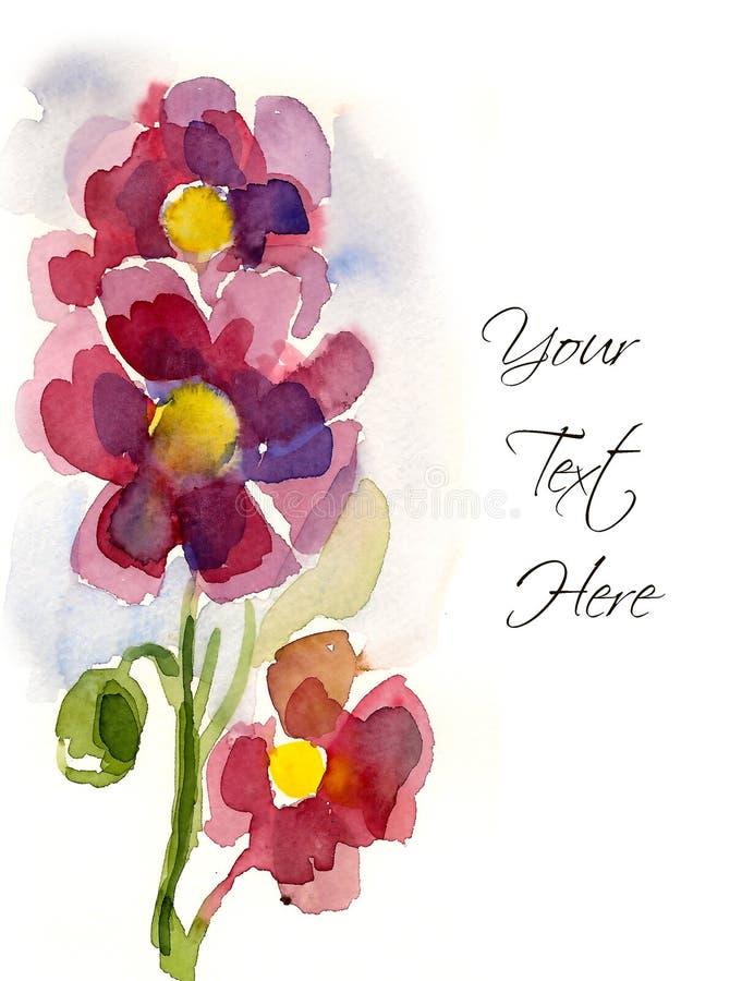 Fleurs peintes à la main roses illustration libre de droits