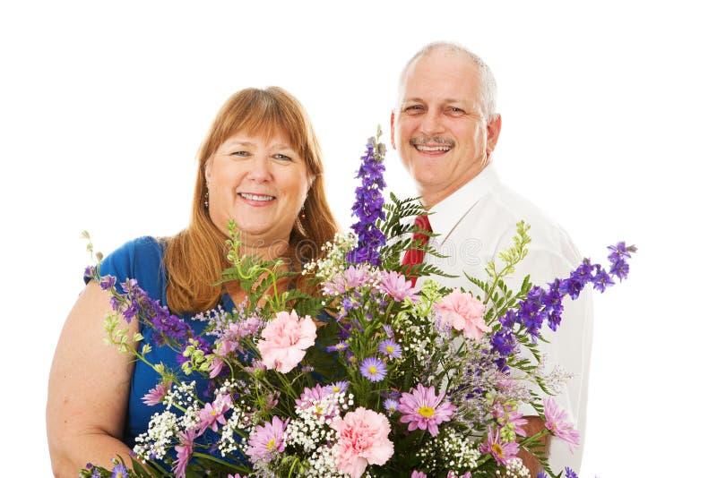 Fleurs pour l'épouse photo stock