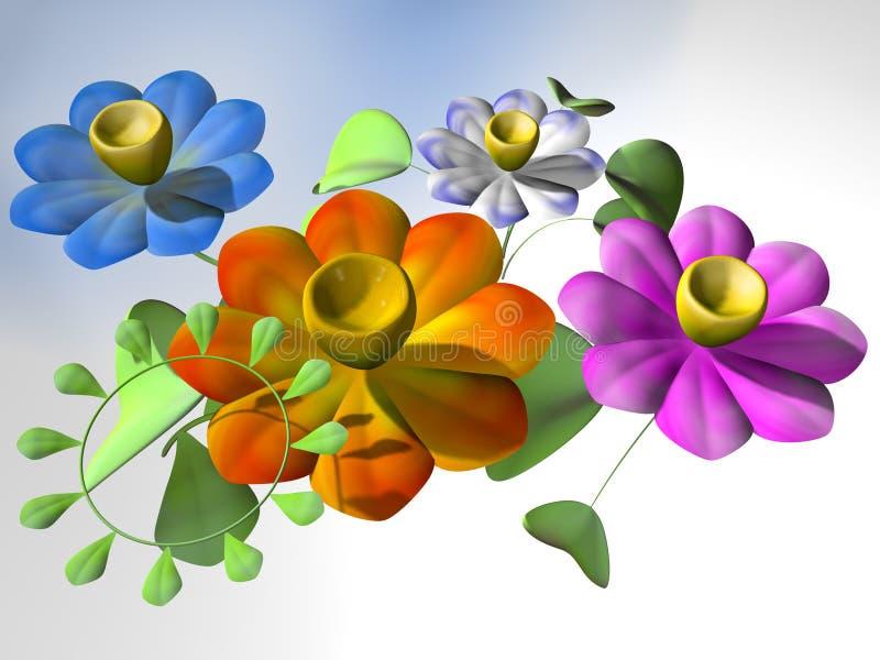 Fleurs psychédéliques illustration libre de droits