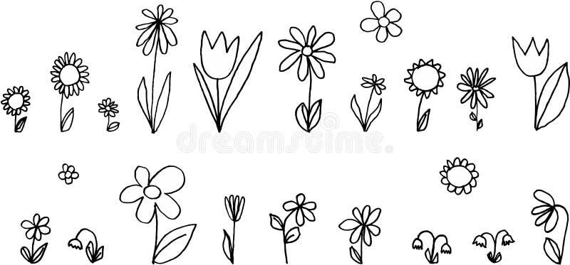 Fleurs réglées illustration libre de droits