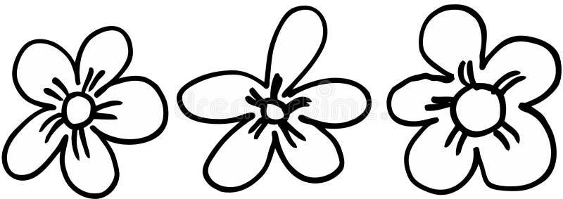 Fleurs réglées illustration stock
