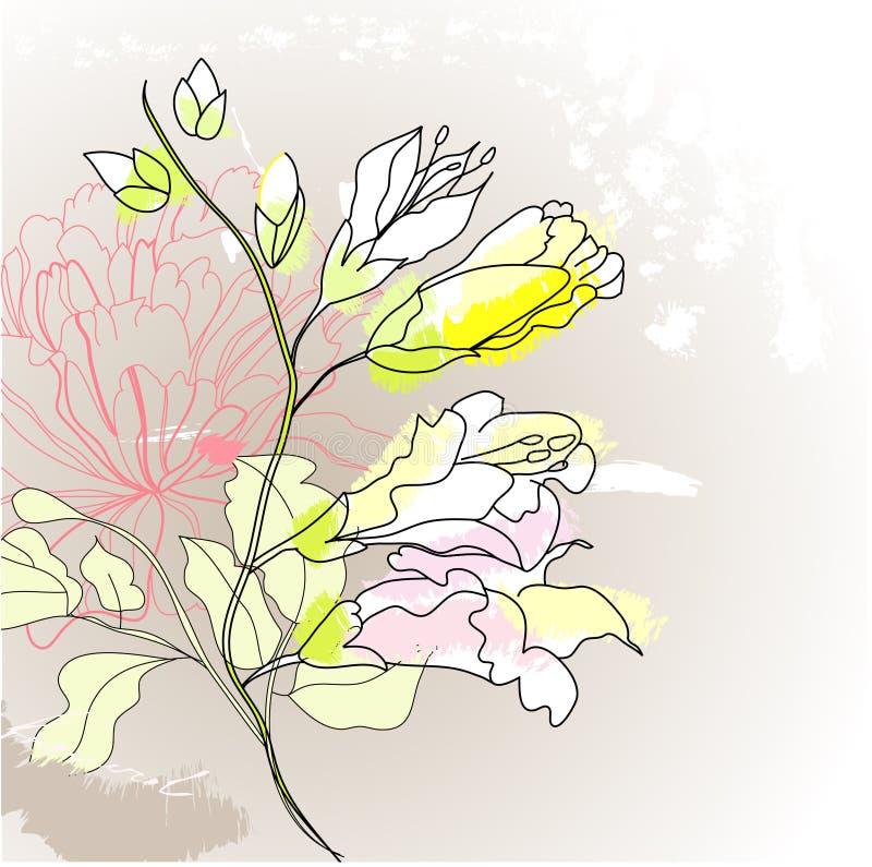 Fleurs romantiques illustration libre de droits