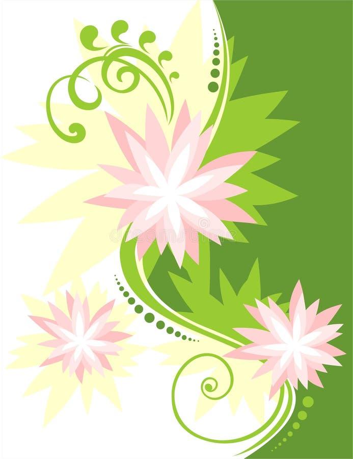 Fleurs roses illustration stock