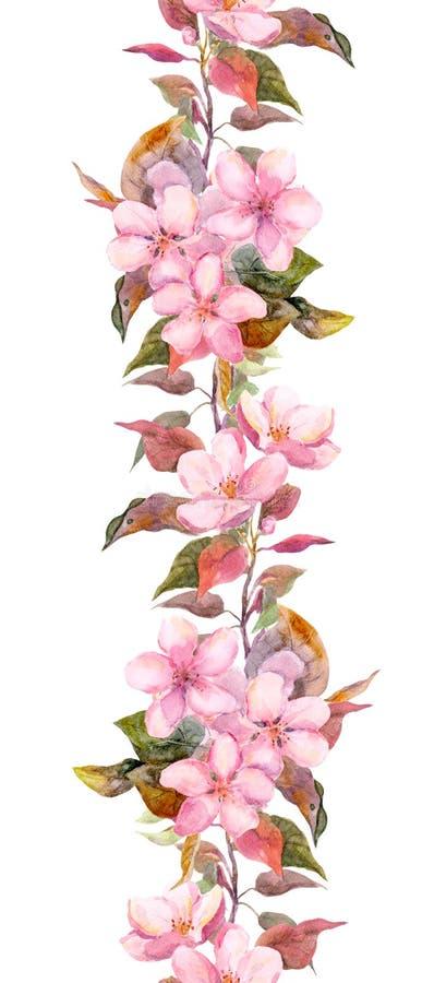 fleurs roses d 39 apple ou de cerise cadre floral sans. Black Bedroom Furniture Sets. Home Design Ideas