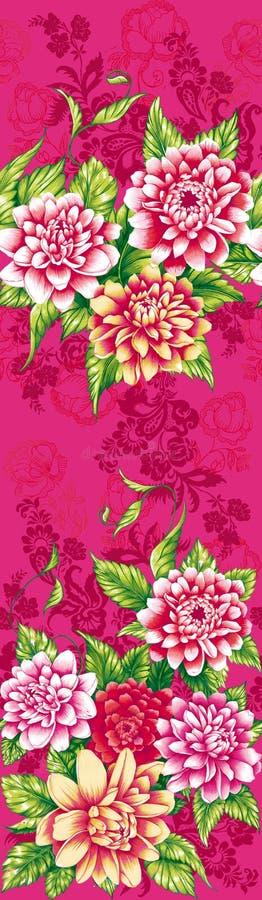 Fleurs roses de pivoine illustration stock