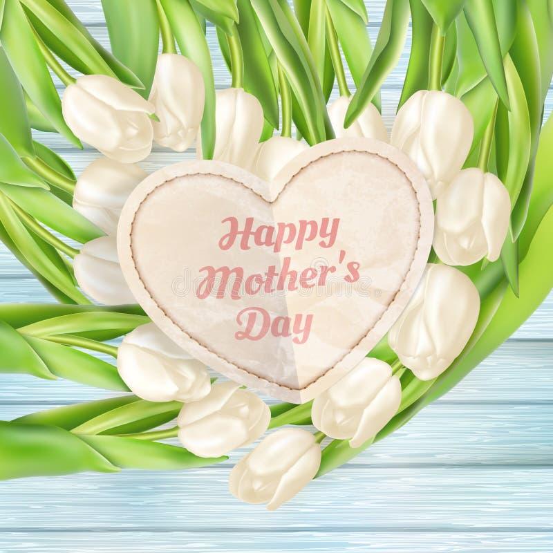 Fleurs roses pour le jour de mères ENV 10 illustration stock