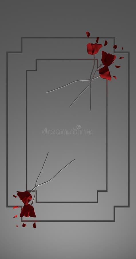 Fleurs Roses rouges image libre de droits