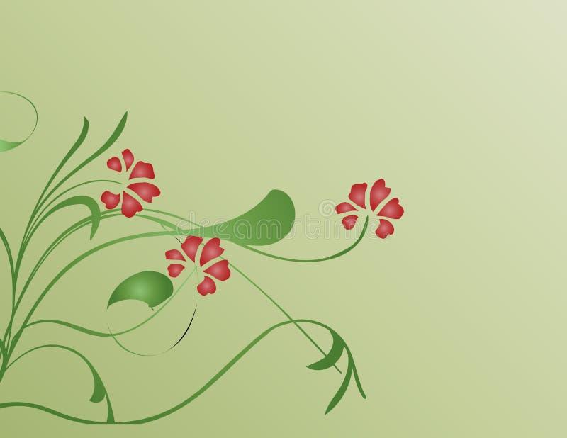 Fleurs rouges illustration de vecteur