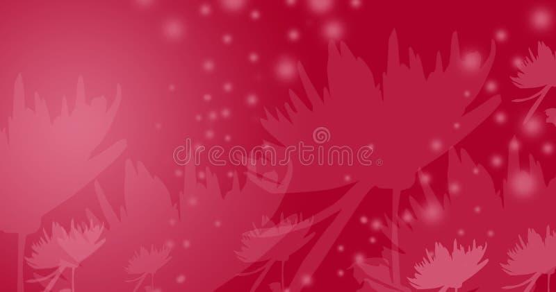 Fleurs rouges de conte de fées illustration de vecteur