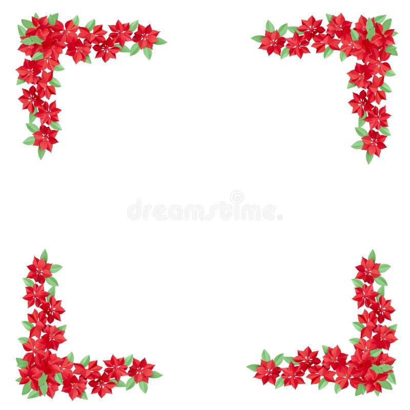 Fleurs rouges faites de papier utilisé pour la décoration d'isolement sur le blanc images stock