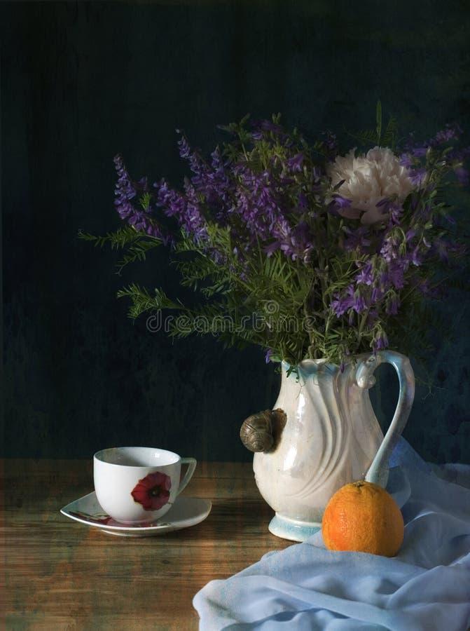 Fleurs sauvages bleues photographie stock