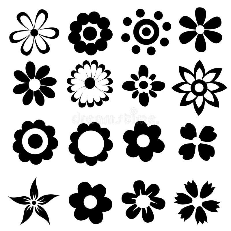 Fleurs simples de vecteur illustration de vecteur
