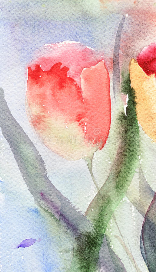 Fleurs stylisées de tulipes illustration libre de droits