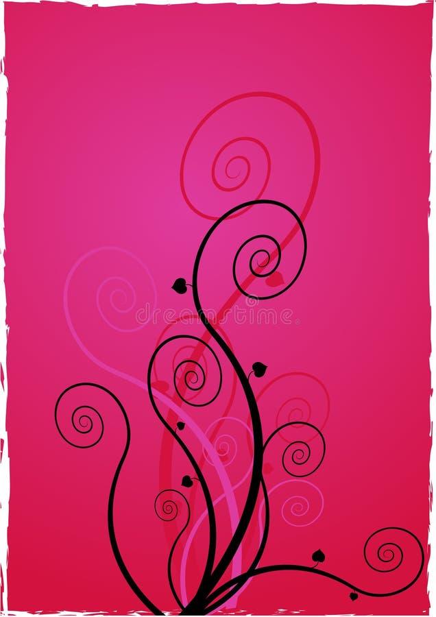 Fleurs sur le fond rose. illustration stock