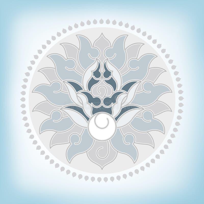 Fleurs virtuelles de PO-phase de Hinese illustration stock