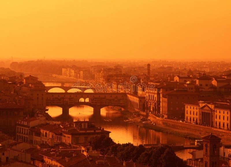 Fleuve Arno, Florence, Toscane, Italie. images libres de droits