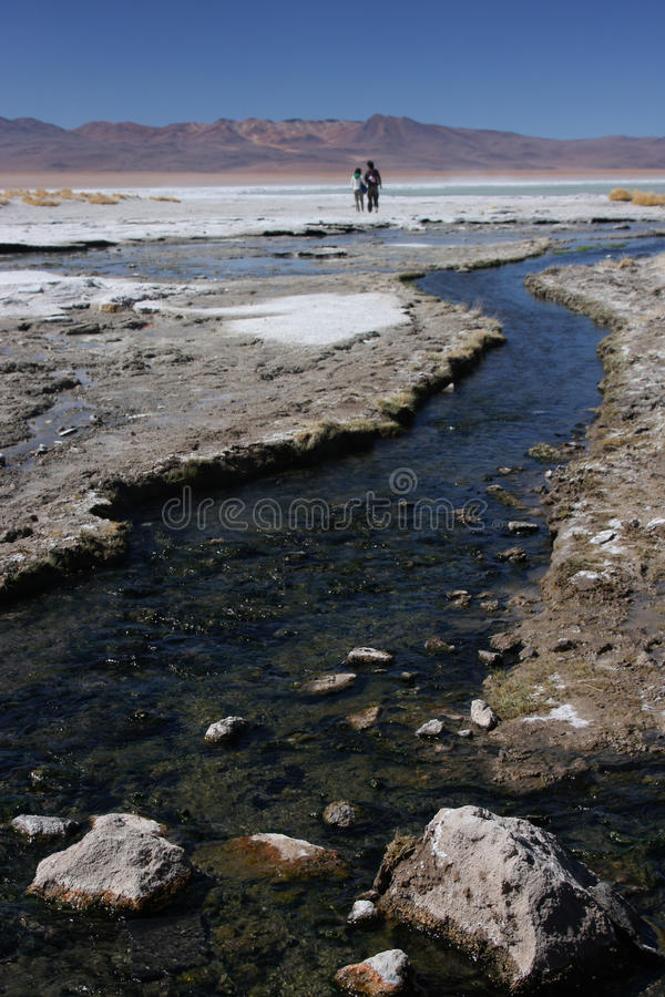 Fleuve chaud vers Laguna Salada photographie stock libre de droits