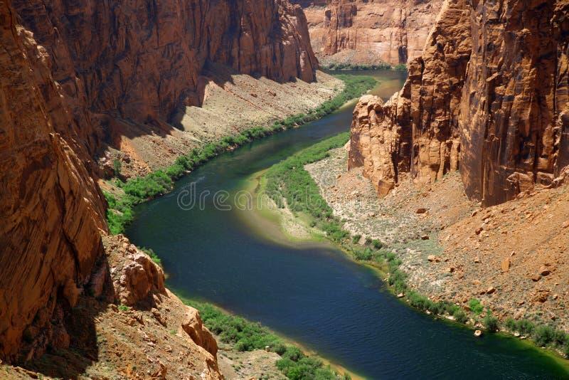Fleuve Colorado Près de gorge de gorge photo libre de droits