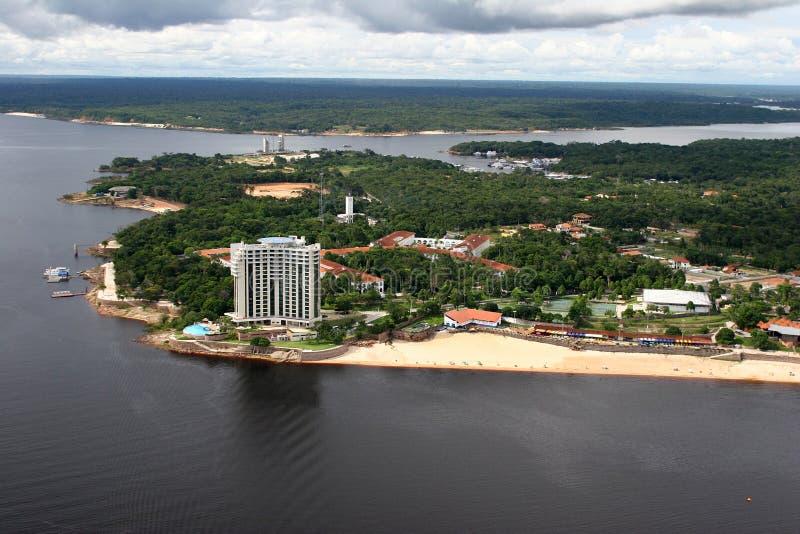Fleuve d'Amazone de ville de Manaus Brésil photo stock