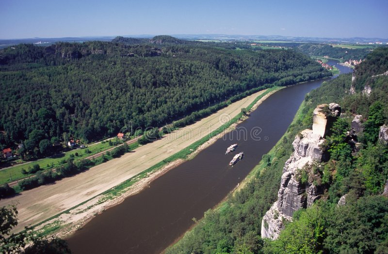 fleuve d'Elbe photo stock