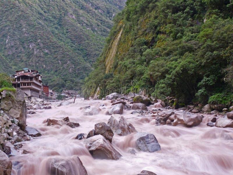 Fleuve d'Urubamba, Machu Picchu Pérou images libres de droits
