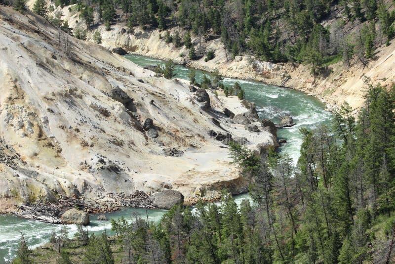 Fleuve dans Yellowstone photographie stock libre de droits