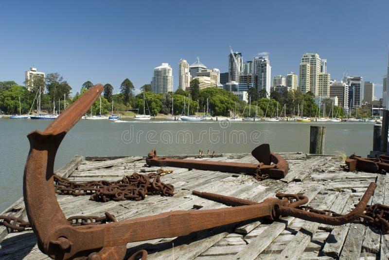 Fleuve de Brisbane image libre de droits
