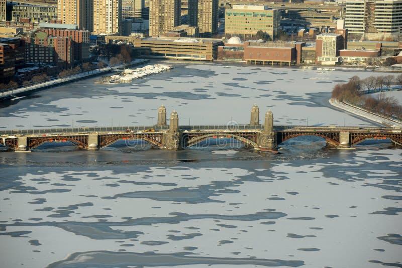 Fleuve de Charles et passerelle de Longfellow, Boston photo libre de droits
