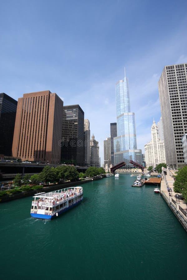 Fleuve de Chicago, Etats-Unis photo libre de droits