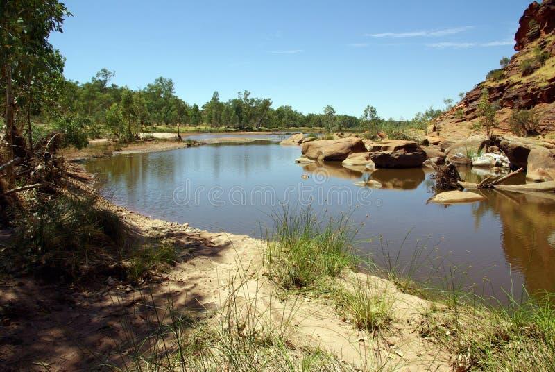 Fleuve de Finke, Australie photo stock