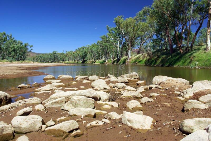 fleuve de finke de l'australie photographie stock