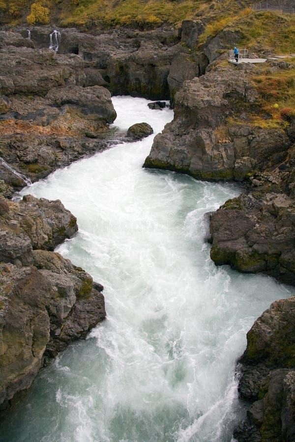 Fleuve de Hvita - Husafell - Islande image libre de droits