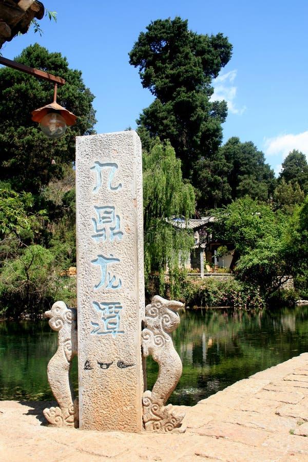 Fleuve de Jiuding Longtan images libres de droits