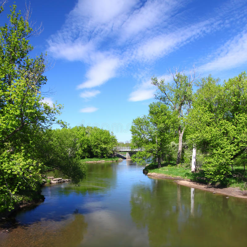 Fleuve de Kishwaukee en Illinois photo stock